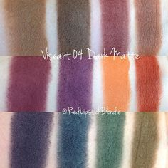 Swatches of viseart's 04 dark matte palette! They make some of the best matte shadows! This palette will get used a lot ❤️