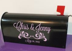 Personalized Wedding Card Mailbox Decal by VinylGifts on Etsy, $10.00