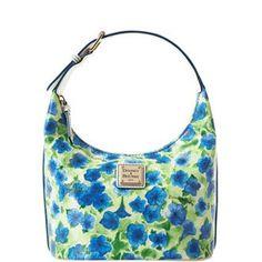 Amazon.com: Dooney & Bourke Petunia Flower Bucket Bag Tote Blue Multi: Shoes