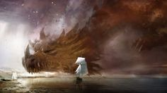 awesome sky dragon falling in the ocean 16564 Check more at http://www.finewallpapers.eu/pin/24078/