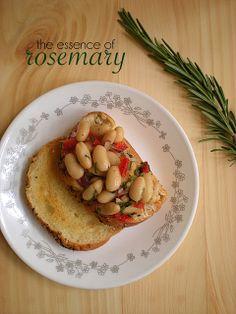 chevrons & éclairs: recipe : white bean bruschetta