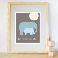 Two of my favorite things: elephants and a quote from Guess How Much I Love You