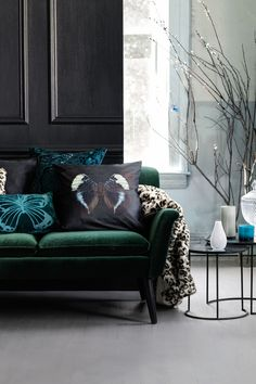 Groen & Blauw | Lichtgrijze Vloer | Lichte Muren | Woonkamer