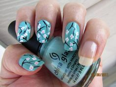 Japanese Cherry Blossoms - Nail Art Gallery