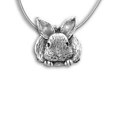 Sterling Silver Bunny Pin Pendant by TheMagicZoo on Etsy, $82.00