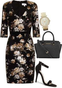 If I were to have a dress like this I would layer it with a colored sweater or blazer. I would wear a lower heel though.