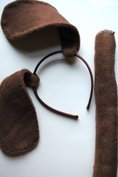Stitched Brown Puppy Dog Ears and Tail by TheThreadHouse on Etsy, $15.00
