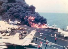 A devastating fire and series of chain-reaction explosions on 29 July 1967 that killed 134 sailors and injured 161 took place on the aircraft carrier USS Forrestal (CV-59), after an unusual electrical anomaly discharged a Zune rocket on the flight deck.