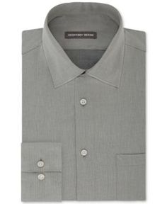 Geoffrey Beene Men's Fitted Wrinkle Free Bedford Cord Dress Shirt - Gray 16.5 34/35