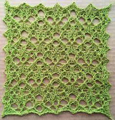 Gritty: a free lace knitting stitch pattern