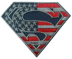 Velcro Superman S logo Subdued US flag Tactical Morale Patch by PatchCosmos on Etsy