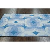 Found it at Wayfair - Retro Hand Tufted Blue Multi Area Rug