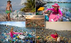 The other side of paradise: Incredible photos show mountains of plastic bottles washed up on idyllic honeymoon islands in Maldives