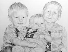 My nephews | Melissa Helene Fine Arts & Photography 16x20 graphite portrait www.melissahelene.com #portrait #children #graphite #artwork #drawing