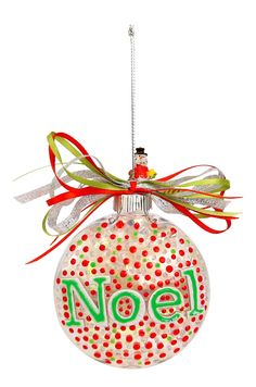 Nicole™ Crafts Noel Disc Ornament #ornaments #craft #christmas