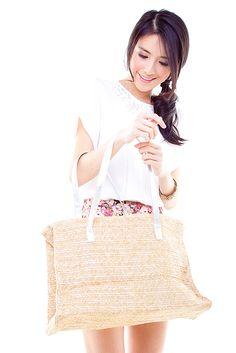 Silver Lining Straw Bag