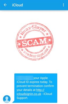 'Your Apple iCloud ID Expires Today' SMS Scam