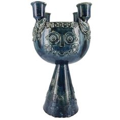 Bjorn Wiinblad Ceramic Centerpiece Candelabra With Hand-Poured Soy Candle Best Candles, Soy Candles, Glazed Ceramic, Ceramic Art, Luxe Clothing, Soy Candle Making, Candle Companies, Scandinavian Modern, Decorative Objects