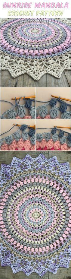 Sunrise Mandala Crochet – Free Pattern
