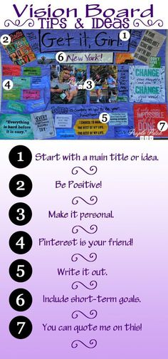 Tips and tricks for making your own DIY inspiration board or DIY vision board - great for motivation!