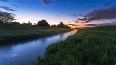 Pleisse River at Blue Hour / Blue Hour, Nature Photos, Hiking, Country Roads, Landscape, Rivers, Beach, Water, Outdoor