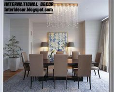 modern dining room furniture with Spanish ideas and design