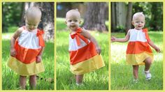 Candy Corn pillowcase dress tutorial