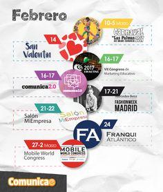 No te pierdas las fechas clave de #comunicación en Feberero |  #infografi