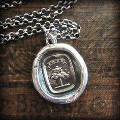 Tree Heraldic Crest Necklace - Strong and Silent - Silence is a Virtue - Shannon Westmeyer Jewelry - 2