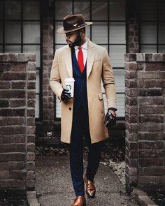 """Men's suit with tan jacket. Men's suit with tan jacket. menstylica: """"Shop the look: Suit Jacket Men In Black, Black Man In Suit, Black Suit Red Tie, Modern Gentleman, Gentleman Style, Gentleman Fashion, Dapper Gentleman, Dapper Men, Sharp Dressed Man"""
