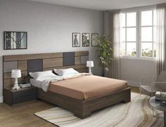 Awesome Camas Modernas Design Ideas for Your Home Decorating and Home Remodeling of The Years Wood Bed Design, Bedroom Bed Design, Small Room Bedroom, Bedroom Sets, Sofa Design, Modern Bedroom Furniture, Bed Furniture, Double Bed Designs, Living Room Arrangements