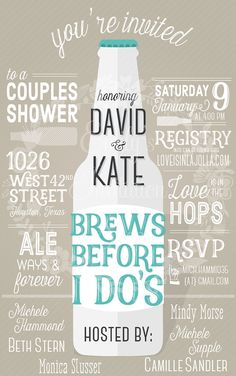 brews before i dou0027s couples shower invitation
