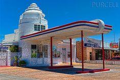 Old Art Deco Filling Station  Tucson Arizona