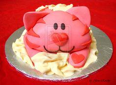 Pink Cat Cake by ginas-cakes.deviantart.com on @DeviantArt