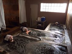 Calistoga Golden Haven Hot Springs Spa & Resort - Calistoga, CA, United States. Mud bath for three!