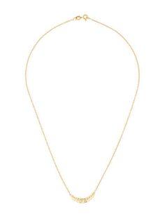 18K Crescent Diamond Necklace