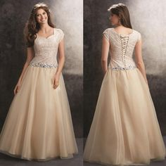 2015 Cheap Plus Size Prom Dresses With Modest Short Sleeves Corset And Tulle Lace Crystals Wedding Evening Gowns Custom Made Formal Wear New Sell My Prom Dress Sexy Short Prom Dresses From Sarahbridal, $111.11| Dhgate.Com