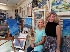 Local Artist Mary Taglieri frequently visit with Nina, owner of Creations At the Village, to showcase her unique works of art!
