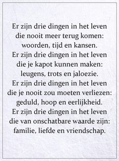 Advice Quotes, True Quotes, Words Quotes, Wise Words, Sayings, Dutch Quotes, Think Of Me, Heart Quotes, Relationship Quotes