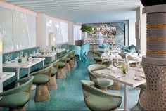 Aquamarine inspiration from Avalon Hotel in Beverly Hills by Kelly Wearstler