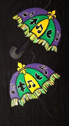 """Mardi Gras door hangers by Cynthia Kolls...22"""" by 24"""""""
