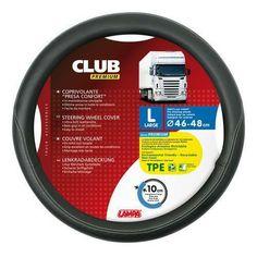 Delux Lorry Truck HGV steering wheel cover large 46cm to 48cm black wide grip #Lampa Carros Premium, Wheel Cover, Truck Wheels, Truck Accessories, Volvo, Trucks, Plain Black, Red Black, Medium