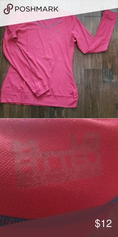 Under armour pink fuscia long sleeved shirt sz lg Excellent condition. Non smoking home. 21 Under Armour Tops