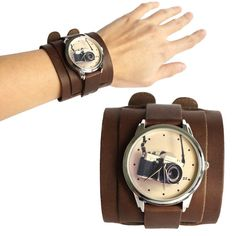 Photo Camera Watch Unisex Wrist Watch, Author's Watch Face, Unique Gift NEW
