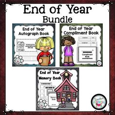This end of the year bundle includes a Memory Book, Autograph Book, and Compliment Book.