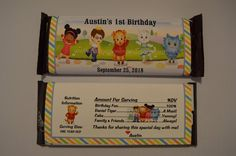 Unique Personalized Daniel Tiger's by PARTYGAMESANDMORE on Etsy