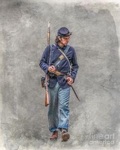 Marching Union Soldier Ver Three. Autor Randy Steele.
