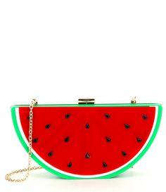 696a0b3c24 Kate Landry Watermelon Frame Clutch Watermelon Designs