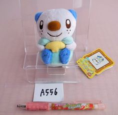 Pokemon Center Oshawott Ottaro Moustillon canvas Plush Doll.with the bonus item #PokemonCenter