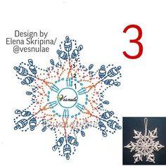 Crochet Snowflake Pattern, Christmas Crochet Patterns, Crochet Snowflakes, Christmas Snowflakes, Crochet Doilies, Crochet Tree, Crochet Stars, Hand Crochet, Knit Crochet